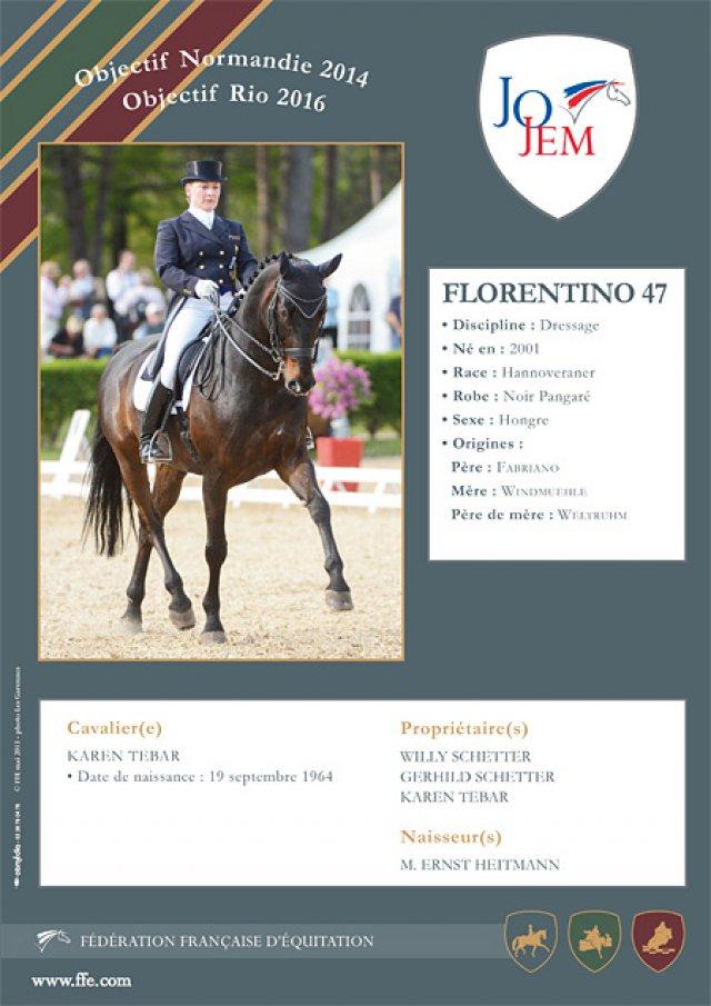 2013 : Florentino fait partie du Groupe « JO/JEM »