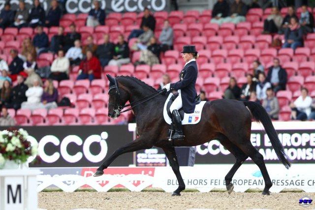 Karen et Florentino aux Championnats d'Europe de Herning, en 2013