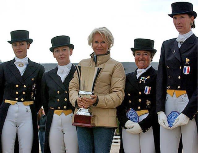 Margit Otto-Crepin mit französischem Team