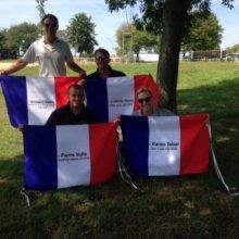 Die Französische Mannschaft im Trainingslager